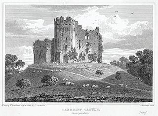 Caerdiff castle, Glamorganshire