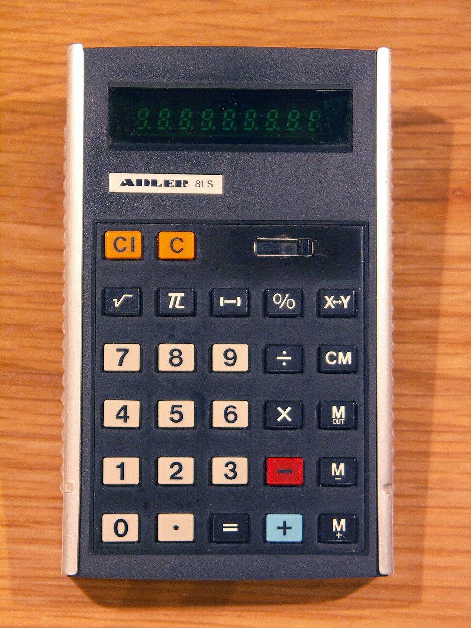Calculator Adler 81S