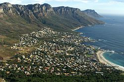 Camps Bay as seen from the ascent to Lion's Head