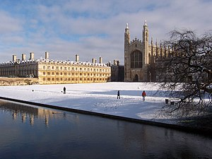Cambridge im Winter.