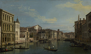 The Grand Canal in Venice from Palazzo Flangini to Campo San Marcuola - Image: Canaletto Grand Canal from Palazzo Flangini JPGM