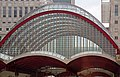 Canary Wharf DLR station trainshed roof, 3 April 2012.jpg