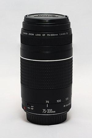 Canon EF 75–300mm lens - Image: Canon EF 75 300 f 4 5.6 III