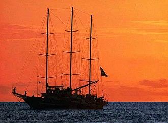 Capitan Miranda (ROU schooner) - Image: Capitan Miranda sunset