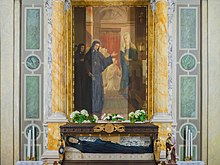 Altar and funeral monument of Maria Crocifissa di Rosa in the Handmaids of Charity chapel in Brescia.