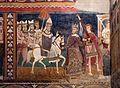 Cappella di san silvestro, affreschi del 1246, storie di costantino 07 papa condotto in roma 2.jpg