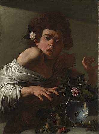 Boy Bitten by a Lizard - Image: Caravaggio Boy Bitten by a Lizard