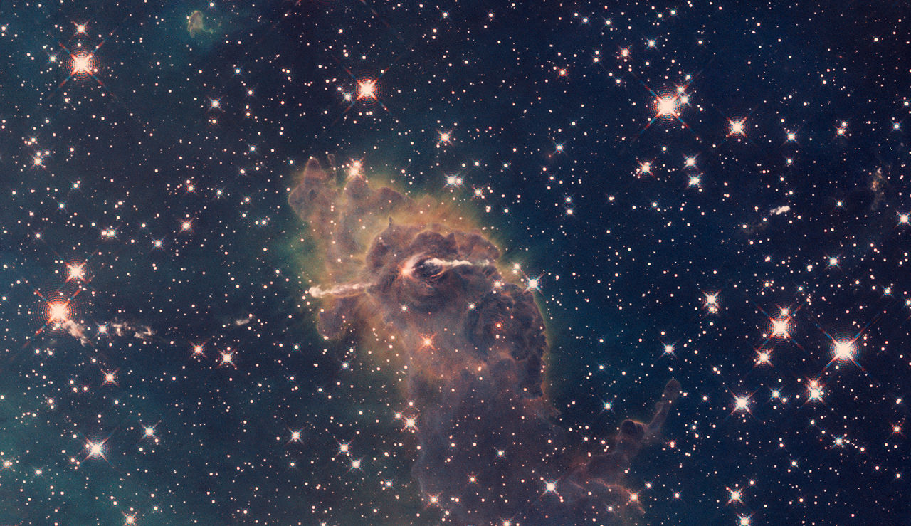 File:Carina Nebula composite of visible and infrared light ...