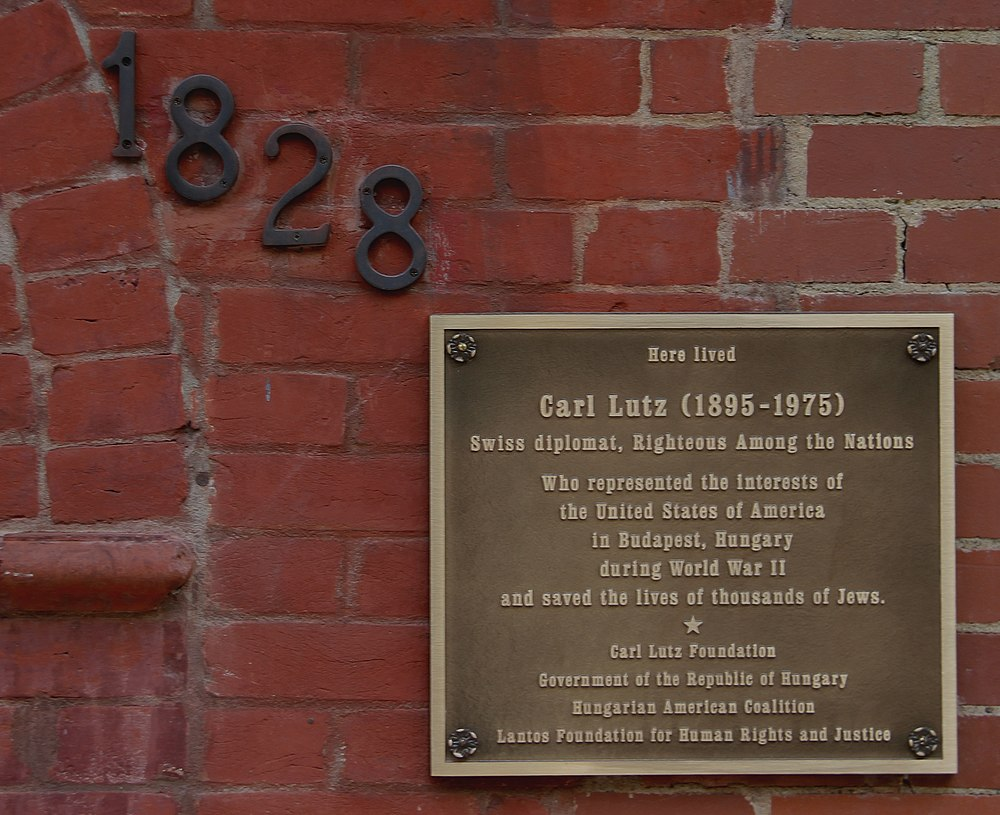 A Memorial Plaque For Carl Lutz Swiss Diplomat Who Saved The Lives Of Tens Thousands Hungarian Jews During Holocaust