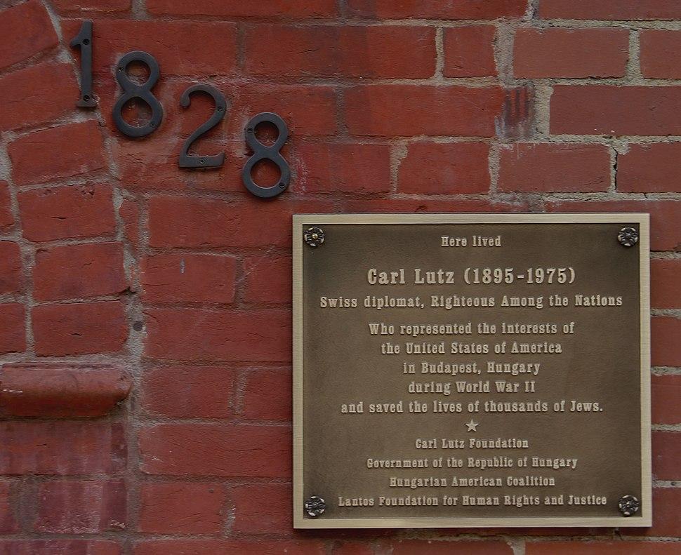 Carl Lutz Righteous Among Nations Plaque Washington, DC