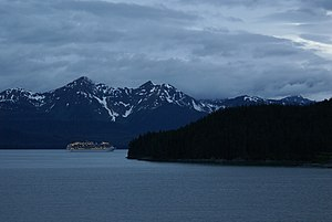 Carnival Legend - Carnival Legend sails near Douglas Island, southeast of Juneau, Alaska