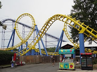 Carolina Cyclone roller coaster