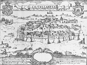 Castellaneta - Castellaneta in the 18th century.