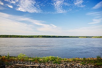 Pemiscot County, Missouri - The Mississippi River, viewed from Caruthersville