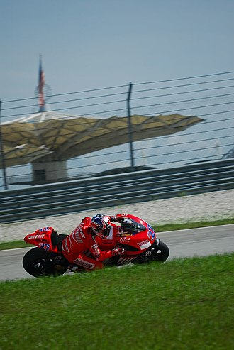 Casey Stoner - Stoner during the MotoGP pre-season test session at Sepang International Circuit in Malaysia in January 2007.
