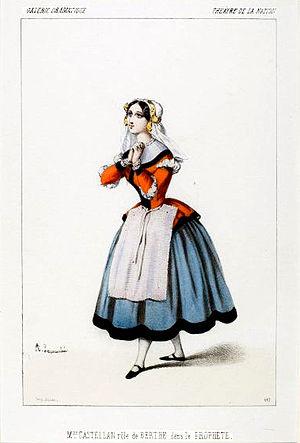 Le prophète - Jeanne-Anaïs Castellan as Berthe in the original production of Le prophète