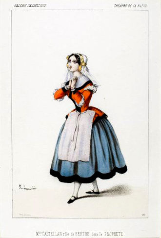 Le prophète - Jeanne-Anaïs Castellan as Berthe in the original production of Le prophète