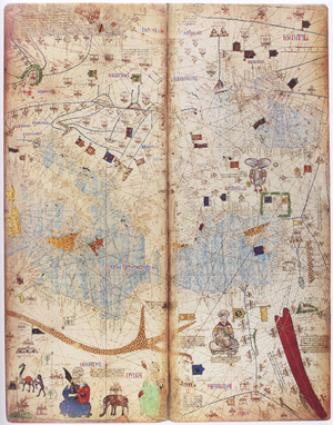 Catalan Atlas - A part of the Catalan Atlas depicting the eastern Mediterranean region