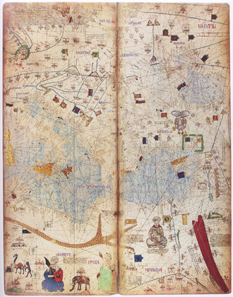 Catalan Atlas - A part of the Catalan Atlas depicting the eastern Mediterranean region