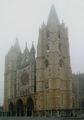 Catedral de Leon (front) in mist.jpg