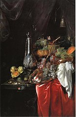 Sumptuous table with fruit and silverware