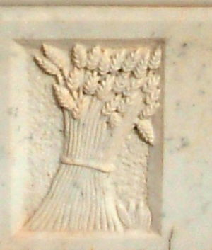 Sheaf (agriculture) - A sheaf of grain on a plaque