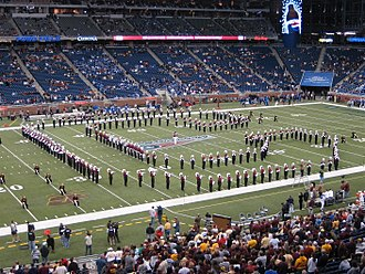 2006 Motor City Bowl - The Central Michigan marching band performing at the game