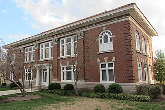 National Register of Historic Places listings in Boyle County, Kentucky - Image: Centre College oldcarnegie front