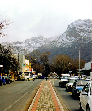Ceres, Western Cape - Town centre of Ceres with its main street on a winter day