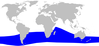 Cetacea range map Grays Beaked Whale.png