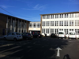 Secondary school in Forty Hill, Enfield Town, England