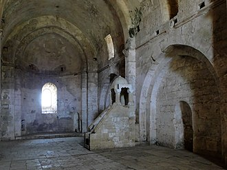 Krak des Chevaliers - The east end of the castle's barrel-vaulted chapel