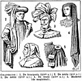 Chaperons - headgear Public domain illustration from Larousse du XXème siècle 1932.jpg