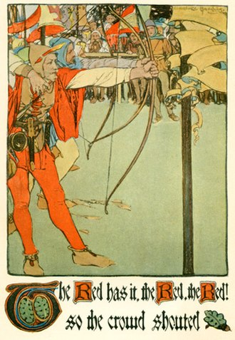 Charlotte Harding -  Frontispiece for Robin Hood by Eva March Tappan, ca. 1903