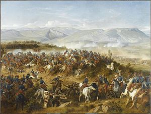 Charge of the Light Brigade - The Chasseurs d'Afrique, led by General d'Allonville, clearing Russian artillery from the Fedyukhin Heights.