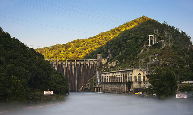 Cheoah Hydroelectric Dam Graham Co NC, by Dantripphoto