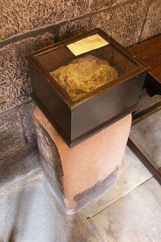 Mortar (masonry) - Roman mortar on display at Chetham's School of Music.