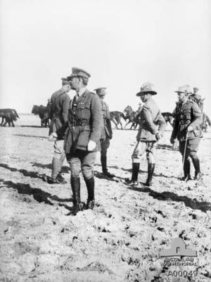 Philip Chetwode, 1st Baron Chetwode - Chetwode (foreground) at El Arish, Egypt, January 1917