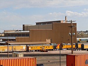 Wyoming Transportation Museum - Image: Cheyenne UP Shop