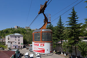Chiatura - A cablecar in Chiatura