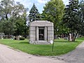 Chicago, Bohemian National Cemetery, Anton Cermak (situation).jpg