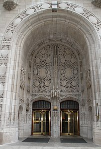 Chicago - The Tribune Tower - Eingang