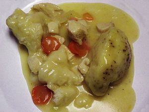 Chicken and dumplings - Chicken and dumplings with vegetables