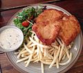 Chicken schnitzel with fries and salad.jpg
