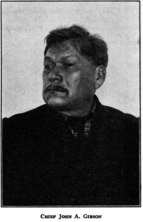 John Arthur Gibson Seneca chief