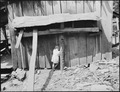 Child of miner at her home. Kentucky Straight Creek Coal Company, Belva Mine, abandoned after explosion (in) Dec.... - NARA - 541220.tif