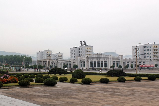 Downtown Chongjin in September 2011, as seen from the city's monument of Kim Il-sung.