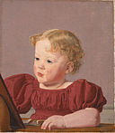 Christen Købke (1810–1848), Portrait of Ida Thiele, the Future Mrs Wilde as a Child, 1832. Statens Museum for Kunst, Copenhagen.jpg