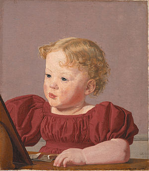 Just Mathias Thiele - Ida Thiele, at the age of 2, painted by Christen Købke (1832)