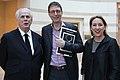 Christie's Deputy Chairman Americas Jonathan Rendell, Galerist Aurel Scheibler, Lisa Zeitz, Chefredakteurin WELTKUNST, Berlin (39126572870).jpg